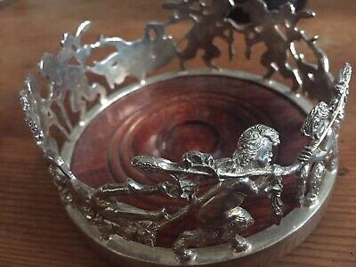 Beautiful Vintage Silverplated Wine/Champagne Bottle Coaster