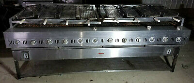 Gas Rotoquip Automatic Rotating BBQ CharBroiler Grill Chargrill Rotisserie Kabob