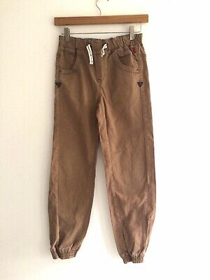 Baker By Ted Baker Light Tan Chino Trousers With Elasticated Ankle Age 10 Vgc