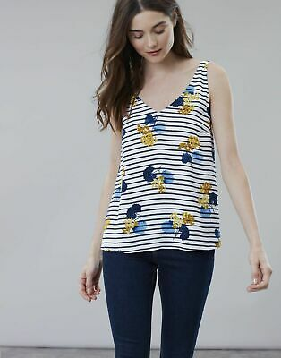 Joules Womens Print V Neck Camisole Top size 6 - BNWT