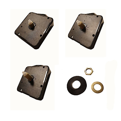 New Replacement Quartz Clock movement mechanism with fittings + free Battery