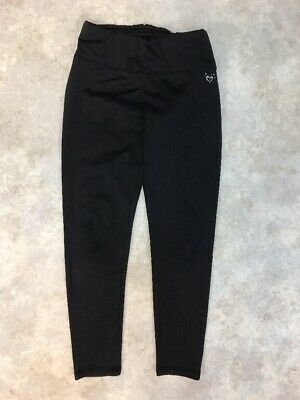 Justice Girls Black Polyester Blend Stretch Activewear Leggings Sz 10