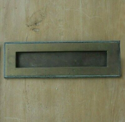 Vintage Brass Letterbox Original Patina Door Hardware 11""