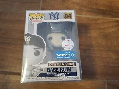 Funko Pop! Babe Ruth Black & White Walmart Exclusive With Protector