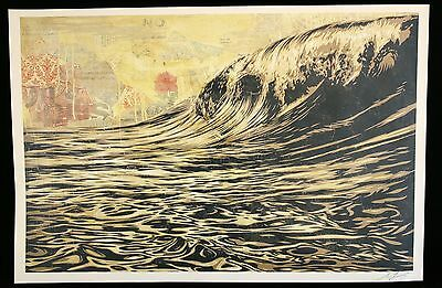 Shepard Fairey ♦ Dark Wave ♦ Grosse Lithographie Signiert Obey Giant Mint