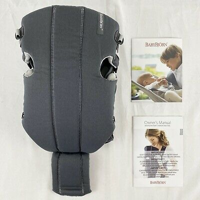 Baby Bjorn Baby Infant Toddler Carrier Original Dark Gray Cotton 8 - 25 lbs