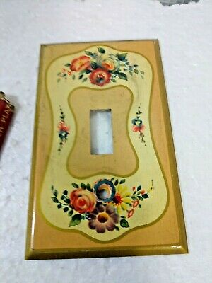 Antique Brass Decorative Switch Plate Cover  /box nos