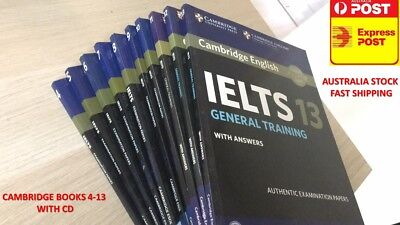 Sell General Training Cambridge Ielts Book 4-13(4,5,6,7,8,9,10,11,12,13)With Dvd