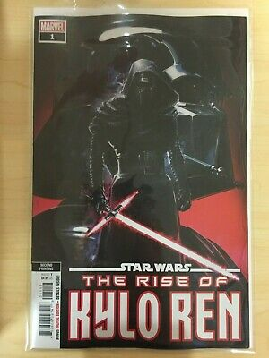 STAR WARS Rise of Kylo Ren 1 2nd second print Clayton Crain variant NM- 9.2s