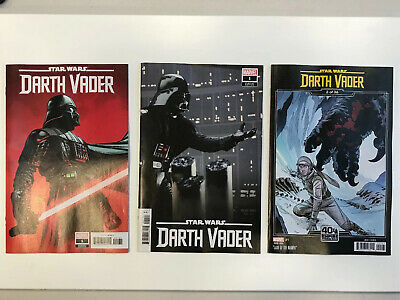 Star Wars Darth Vader (2020) # 1 Lot of 3 Variants - 1:25 / 1:10 Marvel Comics
