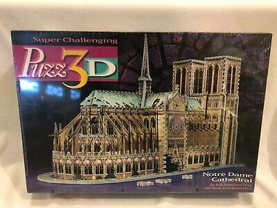 1996 SEALED Puzz 3D Notre Dame Cathedral 952 3-D Puzzle Jigsaw NEW NIB