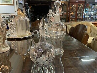 Edwardian - Hand Painted Glass Decanters