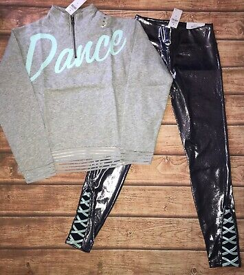 NWT Justice Girls Dance active set outfit size 10, 12, and 14/16