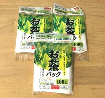Empty Disposable Filter Bags TeaBags for Tea Leaves 100 x 3 packs total 300