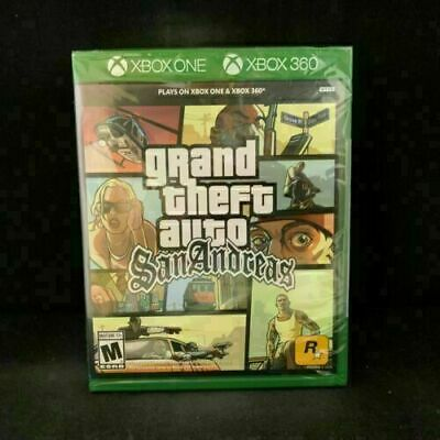 Grand Theft Auto San Andreas (Plays on Xbox One/Xbox 360) BRAND NEW SEALED