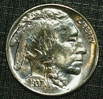MS65 1937-D UNITED STATES Buffalo Nickel  5 cents (594M)