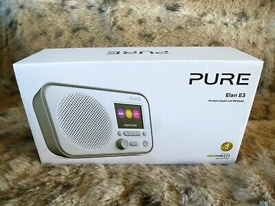 BRAND NEW - PURE ELAN E3 Portable Digital DAB/DAB+ and FM Radio Alarm VL-62947