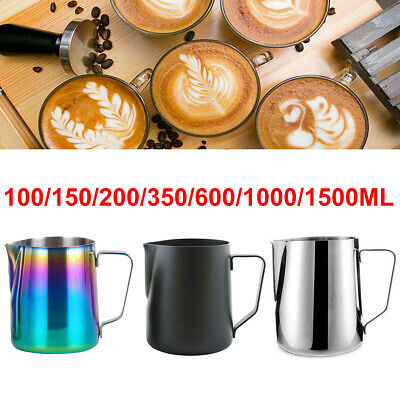 Stainless Steel Milk Craft Coffee Latte Frothing Art Jug Pitcher Mug Cup 10 Size