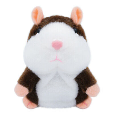 Dark Brown Cute Talking Nod Hamster Mouse Repeating Pet Plush Toy Kids Gift