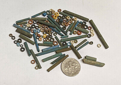 More than a Hundred 2500 Year old Ancient Egyptian Faience Mummy Beads (#L3140)