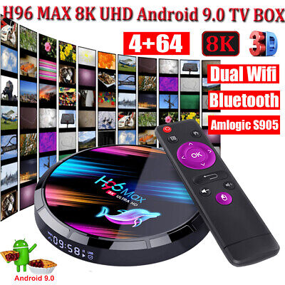 H96 MAX X3 4+64G Android 9.0 8K UHD TV BOX Dual WIFI BT HDMI Amlogic Home Media