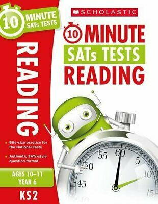 10-Minute SATs Tests for Reading - Year 6 (Age by Giles Clare New Paperback Book