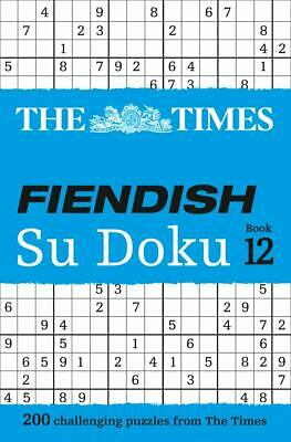 The Times Fiendish Su Doku Book 12: 2 by The Times Mind Games New Paperback Book