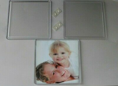 90x90 mm Insert Coasters Plain/Clear,Acrylic/Plastic, Photo's/Advertising
