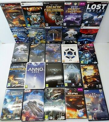 PC-CD Rom Space/ Sci Fi Games Bundle - Galactic Civilizations Solar Empire 2205