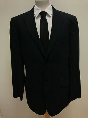 G942 Mens Ted Baker Wool Blue 2 Piece Suit Jacket And Trousers Uk L W34 L34 C42