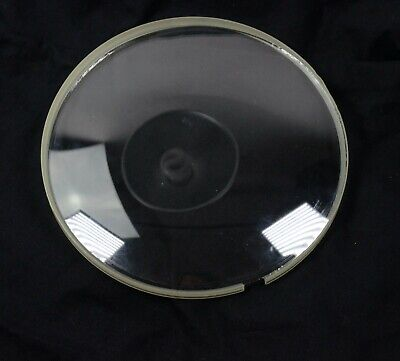 VINTAGE CONVEX ROUND CLOCK REPLACEMENT GLASS W/ Mounting Ring 6 2/16'' Round