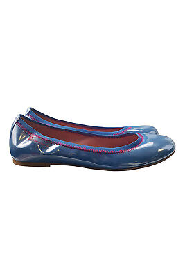 AGATHA RUIZ DE LA PRADA Girls Patent Leather Blue Pink Ballet Pumps (34)