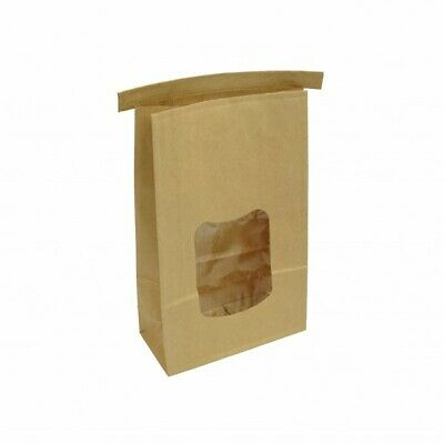 NEW Brown Paper Tin Tie Coffee & Cookie Bags - 150mm - 70mm gusset - 1kg