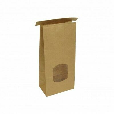 Brown Paper Tin Tie Coffee & Cookie Bags - 115mm - 70mm gusset - 500g coffee