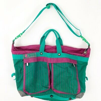 "Vintage 90's ""Sammies"" Samsonite Luggage Bag Retro Teal Purple Shoulder Bag"