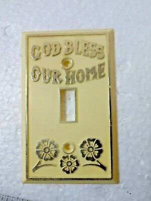 Vintage 1 toggle  Light Switch Plate Cover GOD BLESS OUR HOME