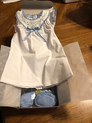 American Girl Beforever Addy Nightgown NIB Gown Slippers Hair Bows NRFB RETIRED
