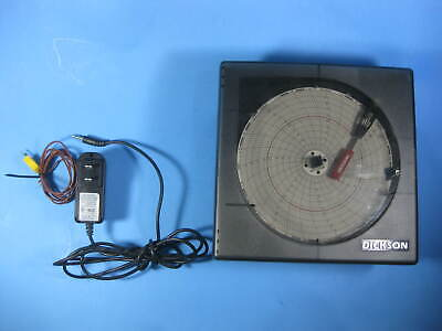 Dickson Temperature Chart Recorder w/ Power Adapter + Probe -- KT621 -- Used