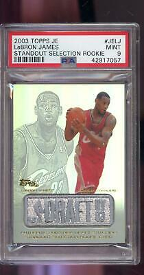 2003-04 Topps JE Draft Standout Selection Lebron James ROOKIE PSA 9 Graded Card