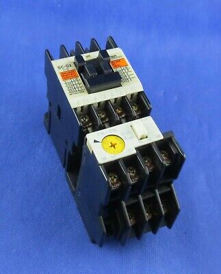 Fuji Electric Sc-03 Magnetic  Contactor, Coil100-110V With Tr-0N Relay. Tested