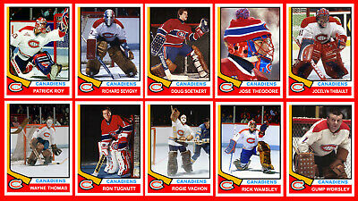 GOALIES: 1974-75 Hockey Card Style Montreal Canadiens Photo Cards U-Pick AWESOME