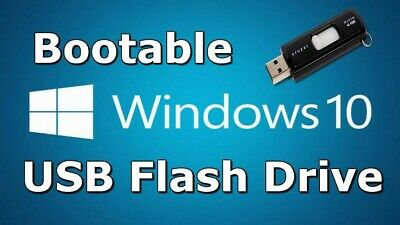 Microsoft Windows 10 home and pro on bootable USB with technician tools 16GB USB