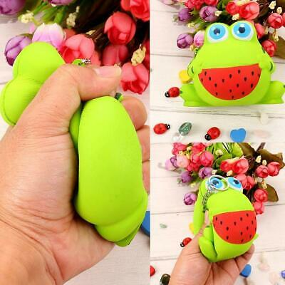 Cute Super Slow Rising Sweet Smell Simulated Frog Squeeze Toy Keychain s2zl