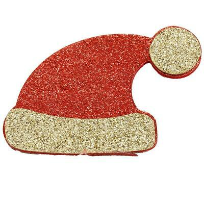 Sparkling Christmas Hat Pattern Hair Side Clip Hairpin Accessories Baby s2zl