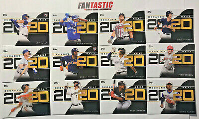 2020 Topps Series 1 DECADES NEXT Insert Card YOU PICK base, blue, black/299