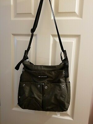 Columbia Diaper Bag Olive Green light weight long strap packable Baby