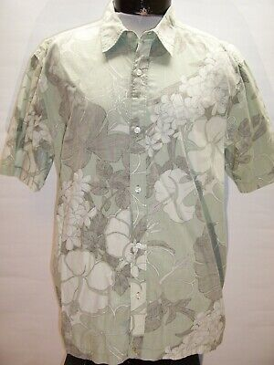 QUIKSILVER Mens XL X-Large Floral Button-up shirt Combine ship Discount