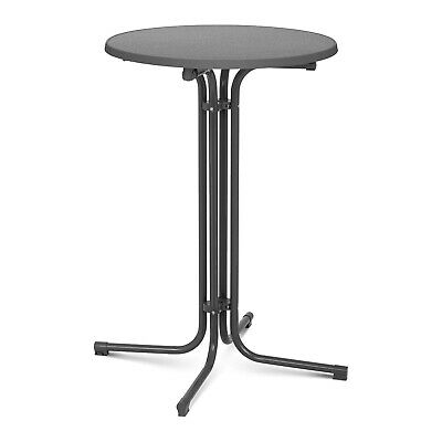 Folding Bar Table High Top Round Table Tall Standing Bistro Event Ø 70 cm Grey