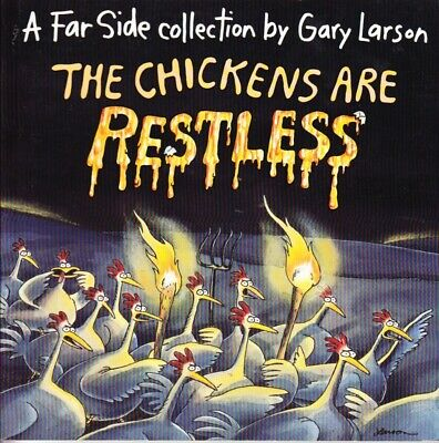 The Chickens Are Restless -Far Side Collection Gary Larson Excellent Used Pb