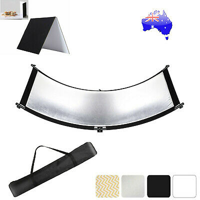 Curved Reflector With Reflector Cardboard For Portrait Photo Studio Lighting